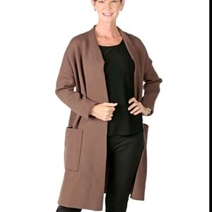NEW Coatigan - Nina Leonard Long Sleeve Oversized Coatigan  Large Pockets
